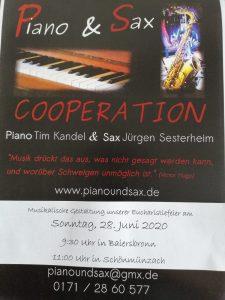 Orgel und Saxophon im Gottesdienst